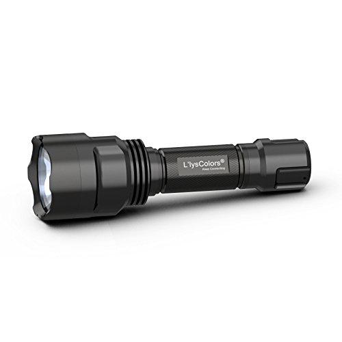 L'lysColors - Torcia a LED , 5-Mode , CREE XM-L2 : Il più potente illuminazione a LED - Molto più luminoso T6 LED , incl. 1 x 3,7v 3,000mAh 18650 batterie ricaricabili e Caricabatterie