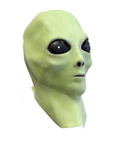 Rubber Johnnies TM Alien Latex Maske (Leuchtet Im Dunkeln) UFO Extra Terrestrische Film Kostüm Party - Aliens Kostüm Aus Filmen