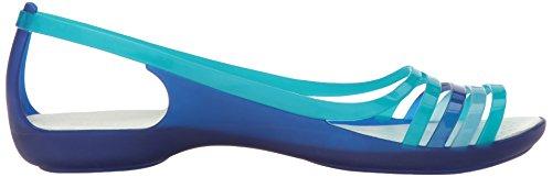 Crocs 202463, Ballerine Aperte Donna Blu (Cerulean Blue/Turquoise)