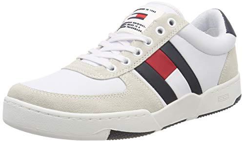 Hilfiger Denim Herren Casual Basket Sneaker, Rot (RWB 020), 42 EU -