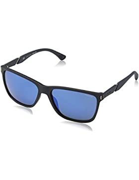 Police Speed 10, Gafas de Sol para Hombre, Azul (Rubberized Full Blue), 44