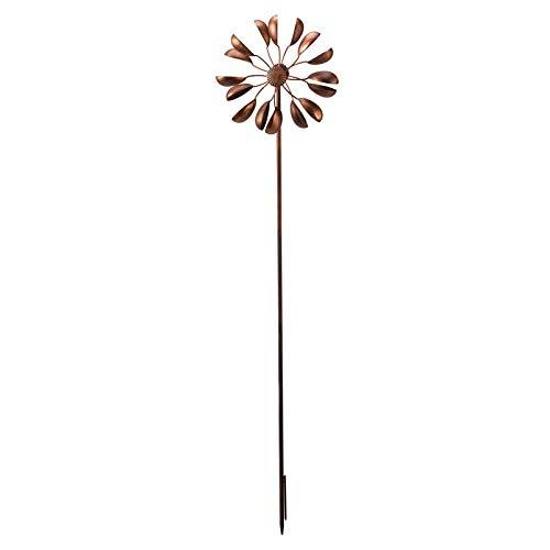 Unbekannt Windrad Virgo in Bronze aus Metall, Maße 120 x 28 cm | Garten > Dekoration > Windräder | Kupfer | Unbekannt