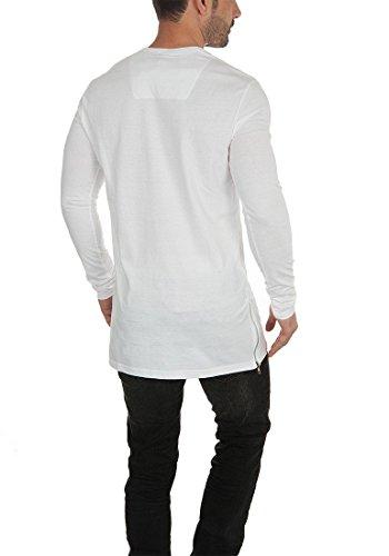 Indicode Aubrey Herren Long Shirt Longsleeve Langarmshirt White
