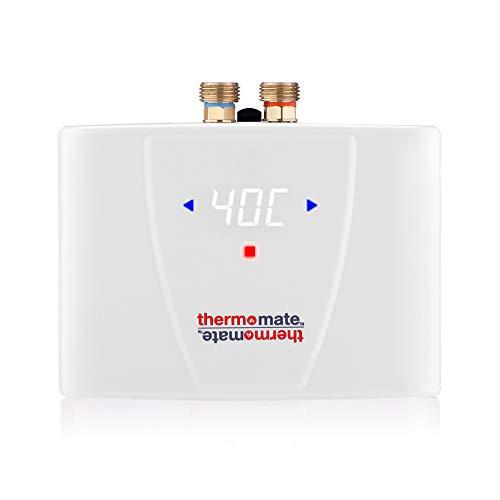 Thermomate ELEX5.5 5,5kW Sofortiger elektrischer Durchlauferhitzer mit hintergrundbeleuchteter LED-Anzeige, Installation Unter oder Über der Spüle