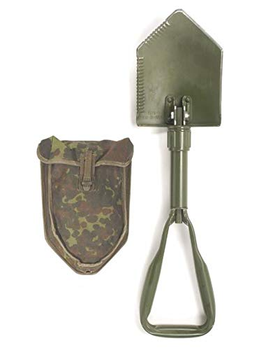 AB original Bundeswehr Feldspaten Klappspaten mit Tasche in Flecktarn