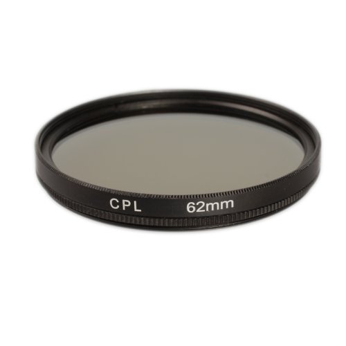 Ares Foto® CPL Zirkular-Polfilter Polarisationsfilter, optisches Glas & Aluminium. Für Canon Sony Nikon Fujifilm Pentax Tamron Sigma Leica Olympus Panasonic (62mm)