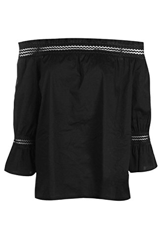 Femmes Noir lola top tissé à épaules dénudées Noir
