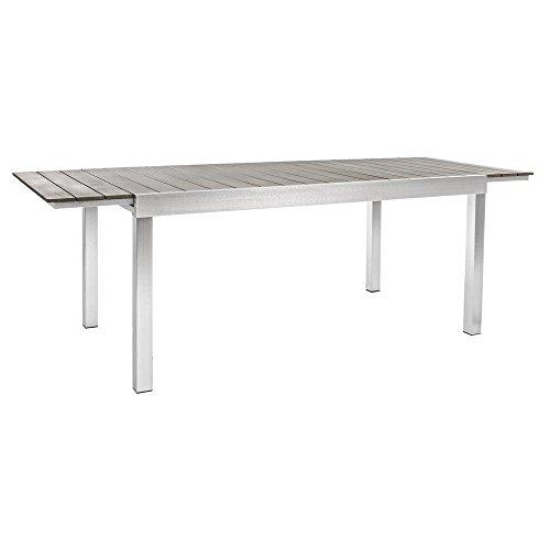 BIZZOTTO Table Extensible Aluminium Otis 164 – 225 x 90 cm déjeuner extérieur Jardin
