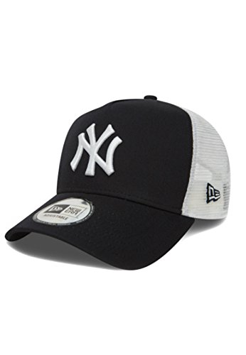 New Era Clean Trucker 2 Adjustable Cap NY YANKEES Schwarz Black White, Size:ONE SIZE (Trucker Era Hats New)