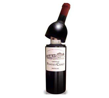 DISOK - Memoria Usb Botella Vino 1Gb