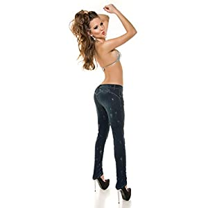 PuSh UP Jeans mit Glitzer