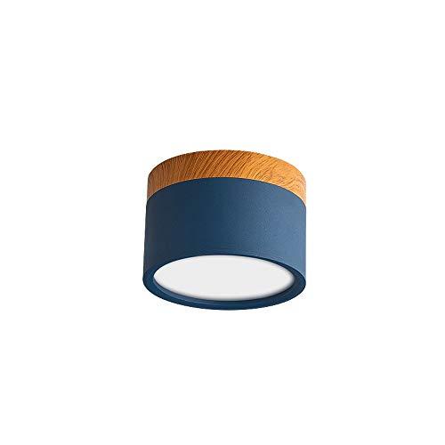 Raelf Downlight Multicolor Macarons Aufputz Downlight Decken LED Strahler 5W-12W Aluminium Blendschutz Akzentbeleuchtung für Flur Korridor Galerie Display Küche und Wohnzimmer (Color : Blue-12W) - Blue Galerie