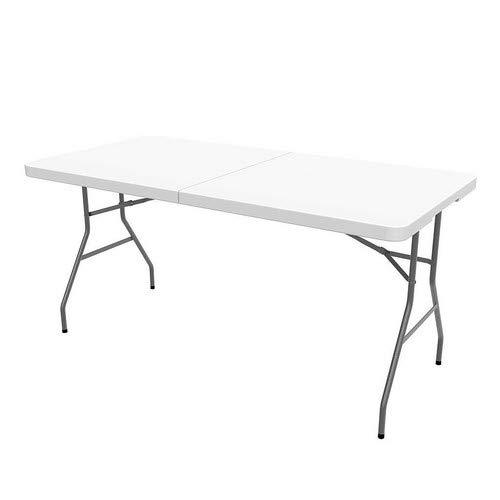 Todeco - Mesa Plegable Portátil, Mesa de Plástico Resistente - Material: HDPE -...