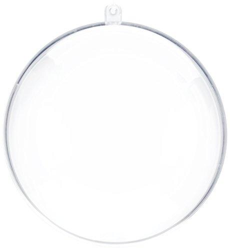 RAYHER 39469800di plastica Sfera 2tlg, ø 12cm, 4pz, Cristallo, plastica, 1,2x 1,2x 2.1cm
