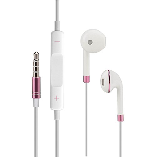 iPhone und Android In-Ear Kopfhörer Earpods mit Lautstärkeregelung [inkl. Schutz- und Transporttasche] für iPhone iPod Samsung Sony HTC Huawei LG MP3 uvm. von PhoneStar