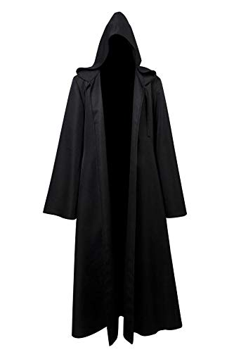 Lanyifang Star Wars Anakin Darth Maul/Revan Traje de Traje de Cosplay Cape Robe Cloak Ward Negro