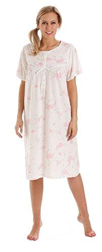 - 31csEpathFL - Ladies Floral Jersey Cotton Rich Nightie Nightdress Nightshirt & Pyjamas – Available in sizes 10-36