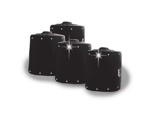 AIKO Bandagen mit Strassbordüre, schwarz, 4er-SET, WB
