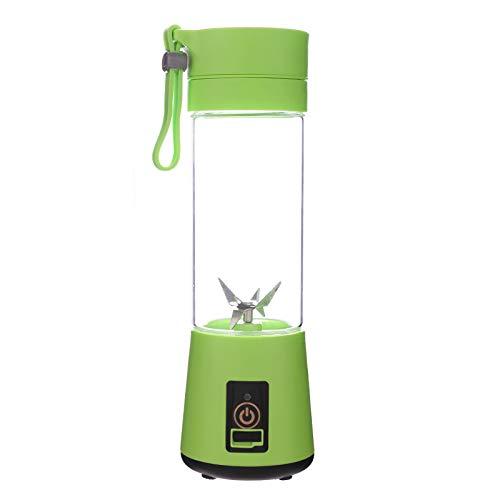 YYD Mini Juicer - Juice Blender para Hacer Leche de SOYA, Jugo de Vegetales, Batidos, etc. Batidora eléctrica Recargable (Azul/púrpura/Rosa/Verde),Green