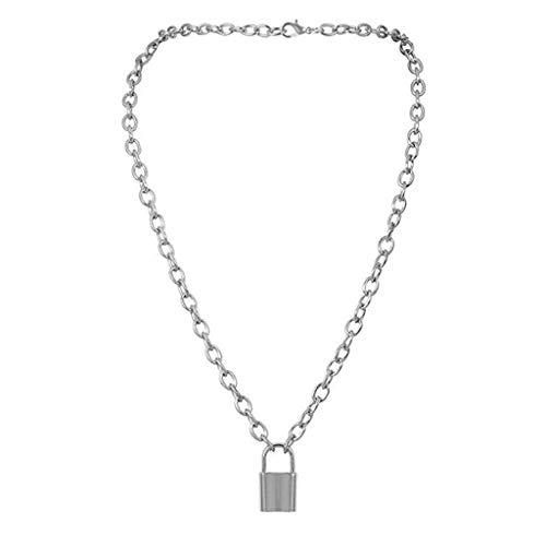 SIOPEW Halskette Damen Promise Love Original Unisex Mode Einfarbig Einfach Lock Shape AnhäNger Geometrie Geschenk Schmuck Necklace