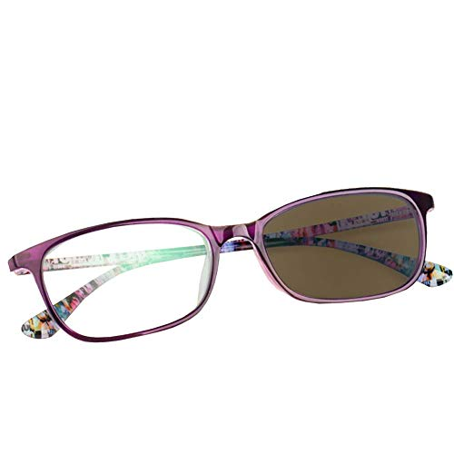 Ultraleichter Sonnenleser, asphärisches Gleitsichtglas TR-90 Frame UV-Multifokallesebrille,+2
