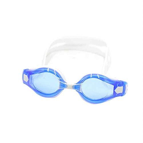 Schwimmbrille für Erwachsene, optimiertes Design Schwimmbrille UV-Schutz 180-Grad-Sichtbarkeit und weicher Silikon-Nasenstrahl @ weiß, Schwimmbrille UV-Schutz ohne Auslaufen
