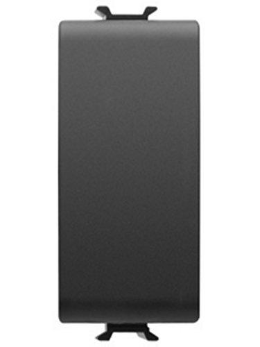 Electraline Wechselschalter 1P 16A Schwarz Serie Lux -