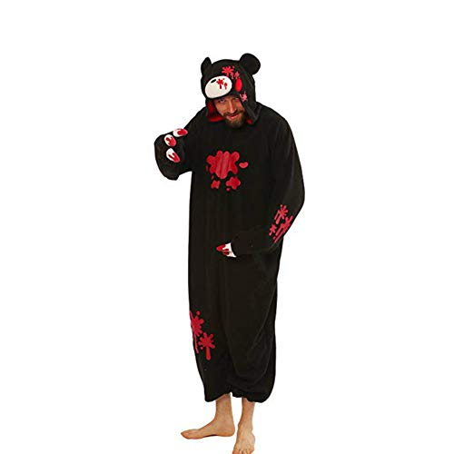 FulMin Kinder Cosplay Pyjamas Onesie Kostüm Einteilige Kigurumi Nachtwäsche (Für Erwachsene Pyjama Einteilig)