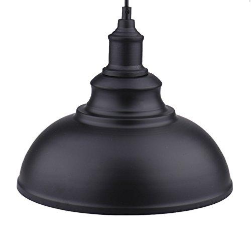 Neuf vintage E27 plafond rétro lampe industrielle fer Loft Abat-jour de suspension Différentes couleurs britannique d'éclairage