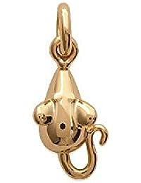 MARY JANE-Colgante para mujer chapado en oro hombre/mujer/niño-Ancho: 8 mm, altura: 11 mm, chapado en oro () ratón