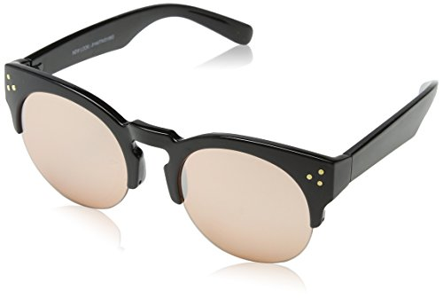 Womens Pops Preppy Sunglasses, Black, 52 New Look