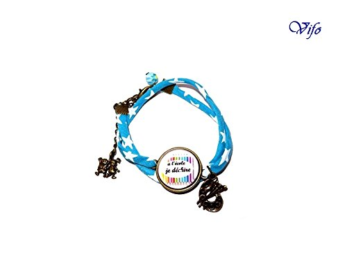 cadeau-maitresse-atsem-avs-bracelet-liberty-cabochon-ecole-a-lecole-je-dechire-bleu-turquoise-etoile