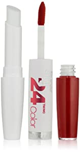 Maybelline New York Superstay 24, 2-step Lipcolor, Keep Up The Flame 025