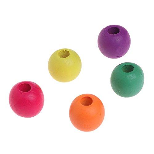 Tandou 10 Piezas 20 mm Madera Coloridas Cuentas Mascotas