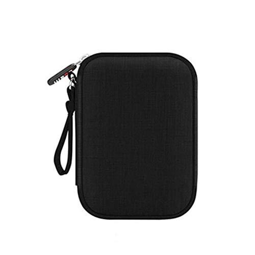 MMD Mobile Festplatte Paket Daten Hard Case Wasserdichte und stoßsichere Aufbewahrungstasche Festplatte Tragetasche (Farbe : SCHWARZ)
