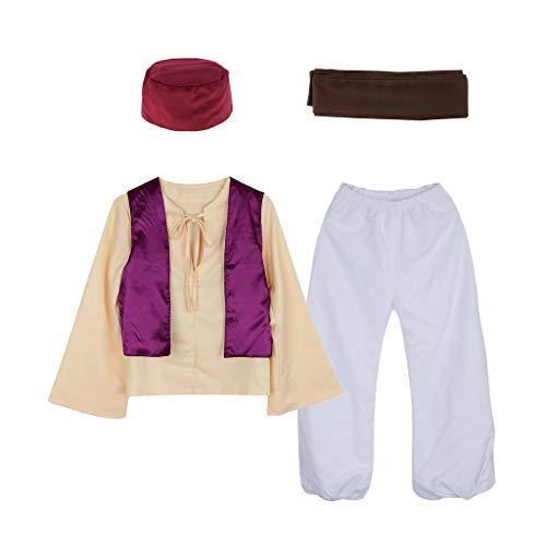 Festival Kostüm Desert - Hellery Arabischer Prinz Sheik Desert Sultan Arabisches Outfit Nacht Kostüm Hut - M