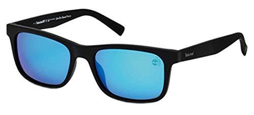 Timberland tb9141, occhiali da sole uomo, black/other/brown polarized, 55