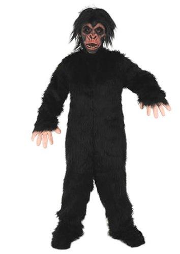 SCHIMPANSE AFFE KOSTÜM FASCHING KARNEVAL MOTTO PARTY (Handschuhe Erwachsene Schimpansen)