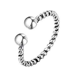 Chandler Einfacher Minimalismus-Finger-Zehenring für Damen, Modeschmuck, rotierbar, offen, verstellbar, Vintage-Design, Geschenk