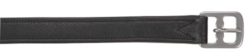 Kerbl 324036 Steigbügelriemen Soft Deluxe, Leder, schwarz, 150 cm/25 mm