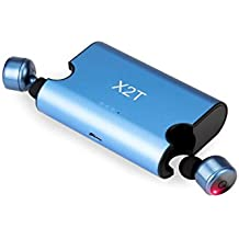X2T Mini Wireless Bluetooth Headphones Noise Cancelling with Charging Box for Wireless Earbuds Stereo Surround Sound Headset Earphone (Blue)