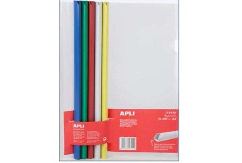 APLI Kit 5 baguettes à relier (10x297mm) avec 5 couvertures transparentes A4