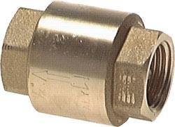 'Clapet anti-retour laiton–– Structure légère G 3/4, 53mm, 12bar, 0,02Bar