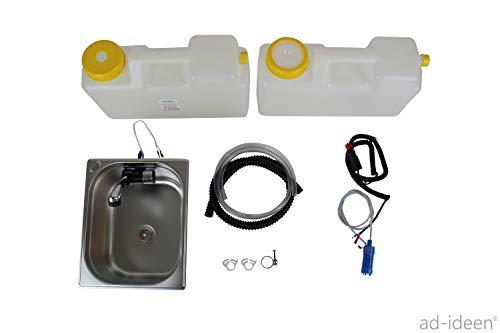 Wasseranlage Imbisswagen Verkaufsanhänger Campingküche 12v Bausatz Spüle 325x265x200 Integrierten Wasserhahn London Raumsparkanister (ad-ideen)