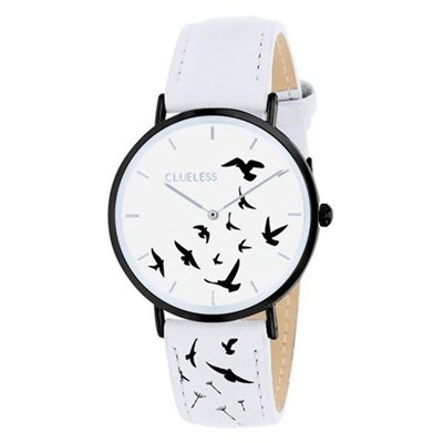 lucardi-clue-less-clue-less-horloge-met-witte-leren-band-per-donna-acciaio-inossidabile