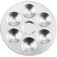 Compartimientos separados de aluminio Acuarela paleta de mezcla para arcilla polimérica