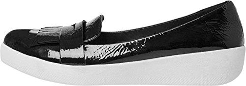 Fitflop Fringey Sneakerloafer Scarpe Nero Brevetto Nero vernice