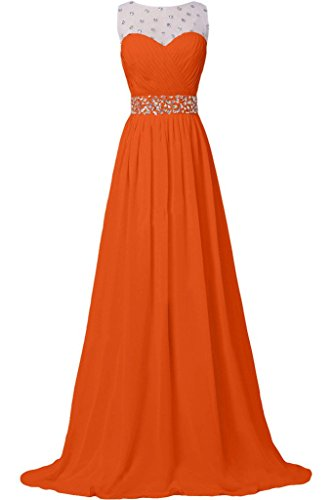 Missdressy - Robe - Plissée - Femme Orange/rouge