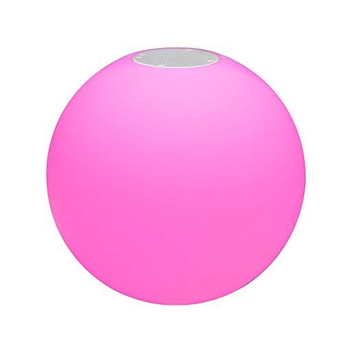 uuffoo LED Bola de Luz Flotante, luz de bola flotante portátil Altavoz RGB Luz de noche recargable del estado de ánimo suspendida en la piscina(200mm/7.87\'\')