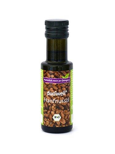 Duowell Hanfnussöl 100 ml - Bio Hanföl kaltgepresst, nativ, Omega-3 reich